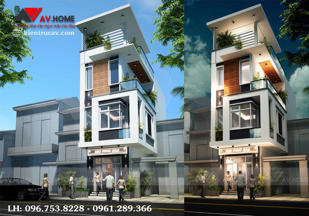 Nhà lô phố 4 tầng mặt tiền 4m Vạn Phúc, Hà Nội – LP1010