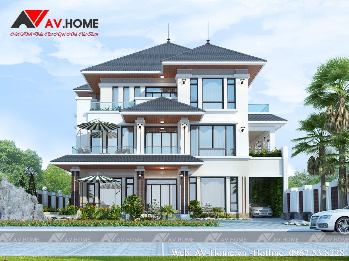 Thiết kế biệt thự 3 tầng hiện đại tại Hà Nội – BT1025