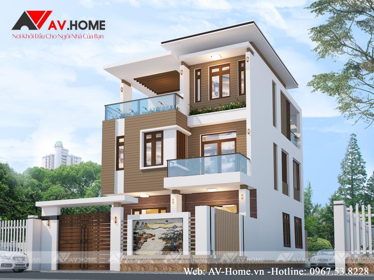 Thiết kế mẫu nhà phố hiện đại 3 tầng tại Thanh Oai Hà Nội – LP1015