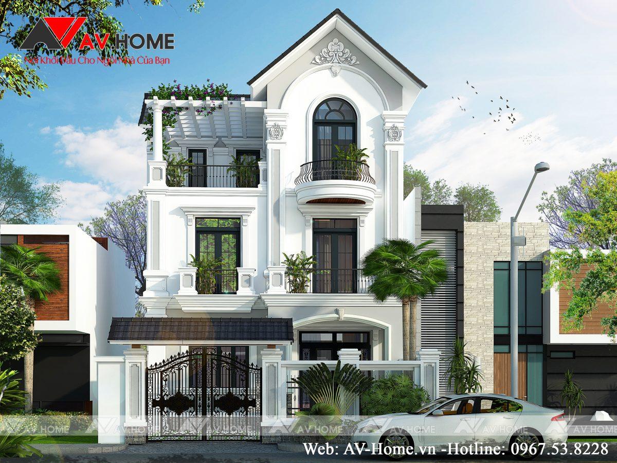 Thiết kế mẫu biệt thự 03 tầng tại Cẩm Phả Quảng Ninh – BT0885