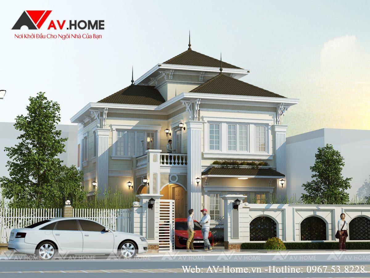 Thiết kế mẫu biệt thự 2.5 tầng tại Gia Lộc Hải Dương – BT1050