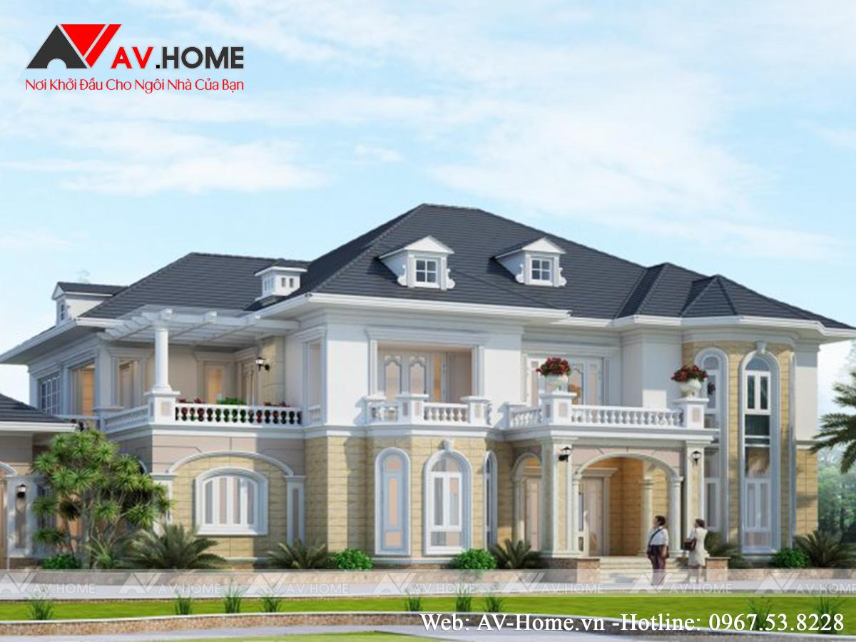 Mẫu thiết kế Dinh thự cao cấp tại Vĩnh Long – DT1050