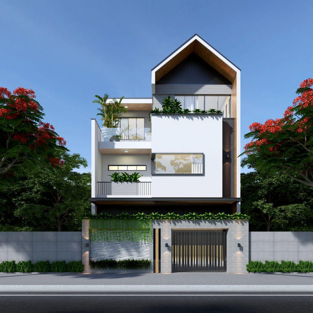 Mẫu thiết tế nhà lô phố 7x12m đẹp tại Đà Nẵng