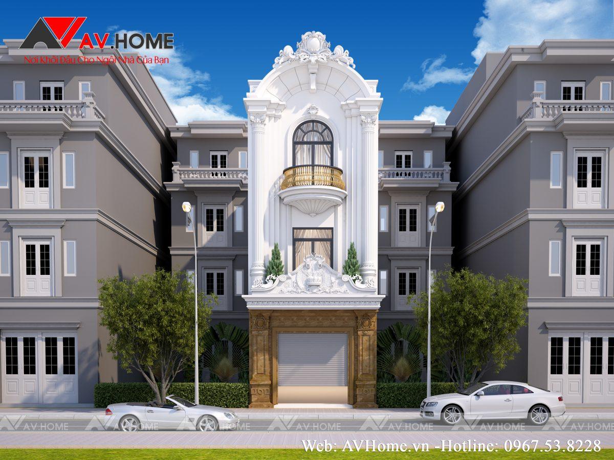 Mẫu nhà phố 3 tầng phong cách Tân cổ điển tại Sầm Sơn, Thanh Hóa – LP1035