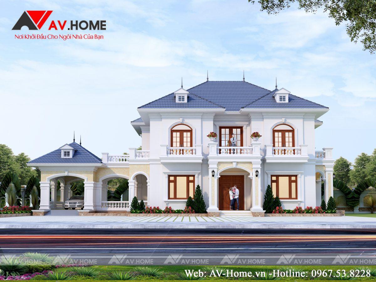 Thiết kế mẫu biệt thự 2 tầng đẹp tại Hiệp Hòa, Bắc Giang – BT1075